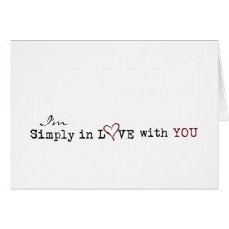 einfach in der Liebe mit Ihnen Karte