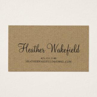 Einfach Kraftpapier-Telefonkarte Visitenkarte
