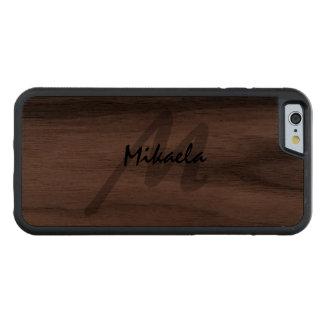 Einfach kundenspezifisches personalisiertes mit bumper iPhone 6 hülle walnuss