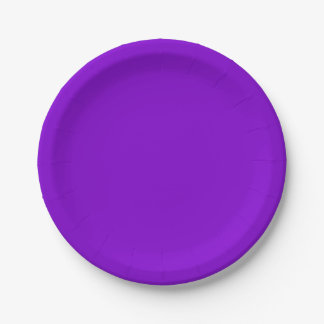 Einfach lila Normallack Pappteller