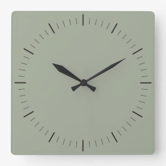 EINFACH Minimaliststunden und -minuten der ART | Quadratische Wanduhr