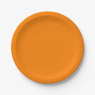 Einfach orange Normallack Pappteller