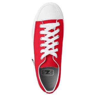 Einfach rote niedrige Spitzenschuhe Niedrig-geschnittene Sneaker