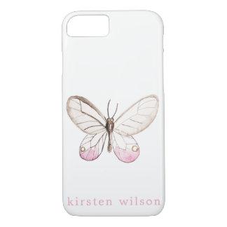 Einfach Schmetterlings-erröten personalisierter iPhone 8/7 Hülle