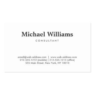 Einfach und beruflich visitenkartenvorlage