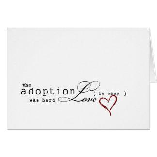 Einfache Adoptionsanmerkungen Karte