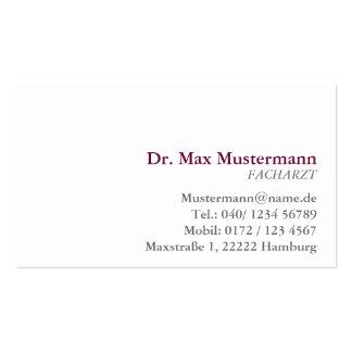 einfache Arzt Visitenkarte