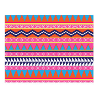 Einfache aztekische Stammes- Grenzen Postkarte