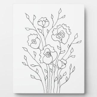 Einfache Blumen Fotoplatte