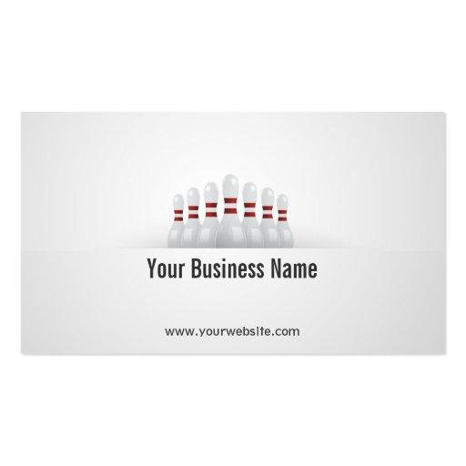 Einfache Bowlings-Ball-Geschäfts-Karte Visitenkarten Vorlage