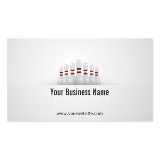 Einfache Bowlings-Ball-Geschäfts-Karte Visitenkarten