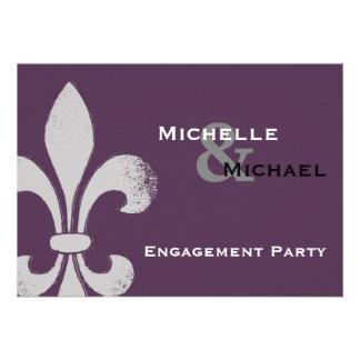 Einfache Chic-Lilien-Party Einladungen