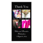 Einfache Collage danken Ihnen Foto-Karte (Schwarze Fotokartenvorlagen