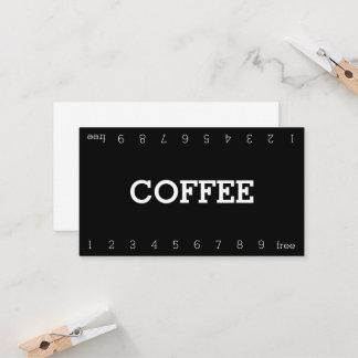 Einfache doppelte Zahl-Loyalitäts-Kaffee-Lochkarte Treuekarte