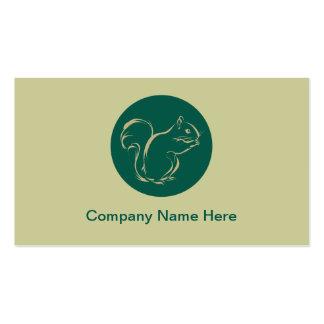 Einfache Eichhörnchen-Visitenkarten Visitenkarten
