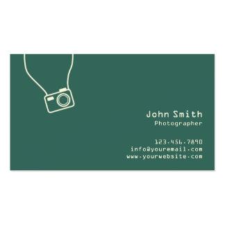 Einfache einfache grüne Fotograf-Visitenkarte