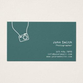 Einfache einfache grüne Fotograf-Visitenkarte Visitenkarte