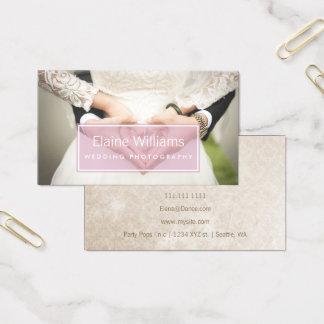 einfache einfache rosa moderne Fotografie Visitenkarte