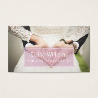 einfache einfache rosa moderne Fotografie Visitenkarten