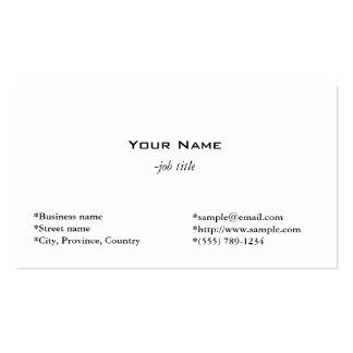 einfache, einfache und coole weiße Visitenkarte