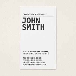 Einfache einfache visitenkarte