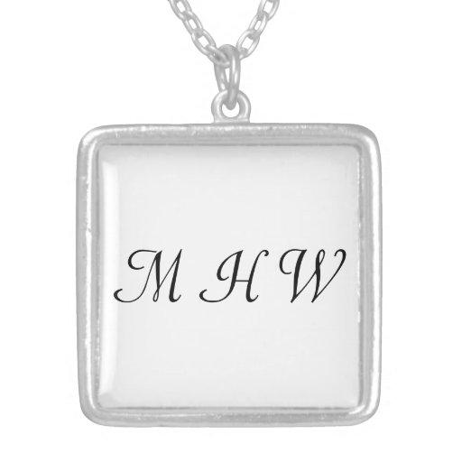 Einfache elegante 3 Initialen-Monogramm-Auswahl Ih Halsketten