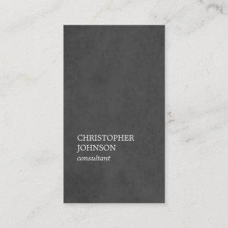 Simple Elegant Texture Dark Grey Consultant