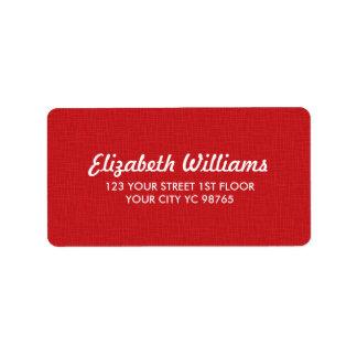 Einfache elegante Beschaffenheits-roter Aufkleber Adressaufkleber