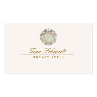 Einfache Elegante blaues Lotus Blume Visitenkartenvorlagen