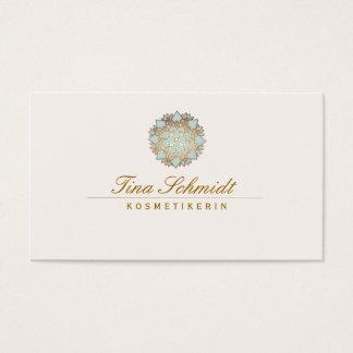 Einfache Elegante blaues Lotus Blume Visitenkarten
