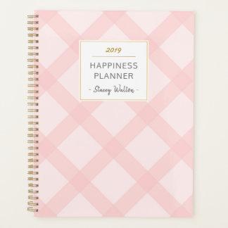 Einfache elegante erröten rosa karierter planer