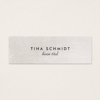 Einfache elegante Imitat Shimmery Weiße Mini Visitenkarte
