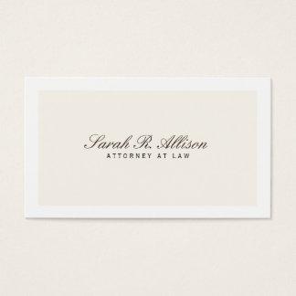 Einfache elegante Rechtsanwalts-Creme-Visitenkarte Visitenkarten
