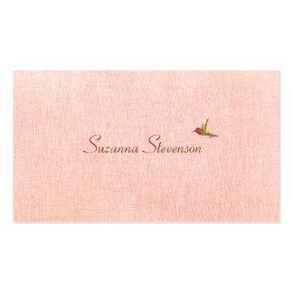 Einfache Eleganz-Rosa-Visitenkarte