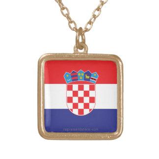 Einfache Flagge Kroatiens Halsketten