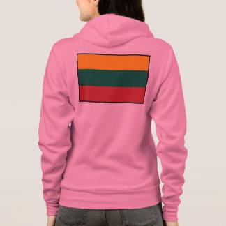 Einfache Flagge Litauens Hoodie