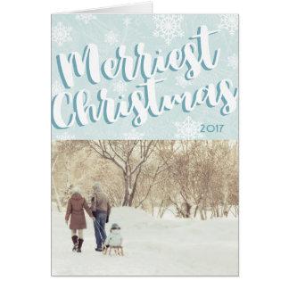 Einfache fröhlichste gefaltete Weihnachtskarte Karte