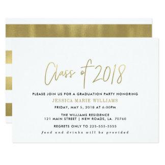 Einfache GoldAbschluss-Party Einladungen
