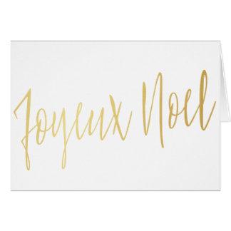 """Einfache Goldkalligraphie """"Joyeux Weihnachten """" Grußkarte"""