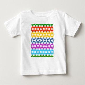 Einfache Grafiken - exotische glückliche Muster Baby T-shirt