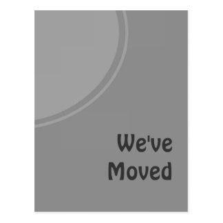 Einfache graue bewegliche Mitteilung Postkarte
