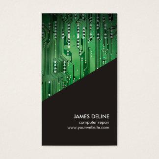 Einfache graue grüne visitenkarte