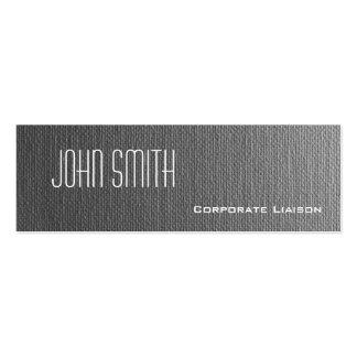 Einfache graue Leinwand-dünne moderne Mini-Visitenkarten