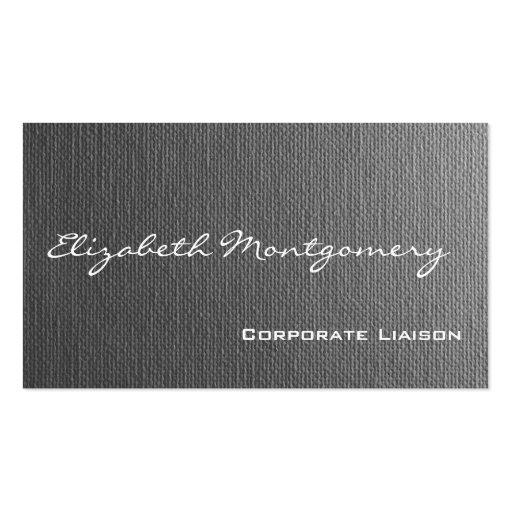 Einfache graue moderne berufliche Geschäfts-Karten Visitenkartenvorlage