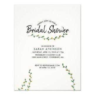 Einfache Grün-Brautparty-Einladung Karte
