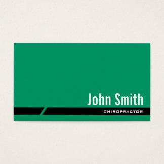 Einfache grüne Chiropraktor-Visitenkarte Visitenkarte