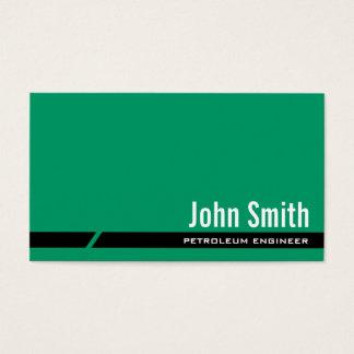 Einfache grüne Erdöl-Ingenieur-Visitenkarte Visitenkarte