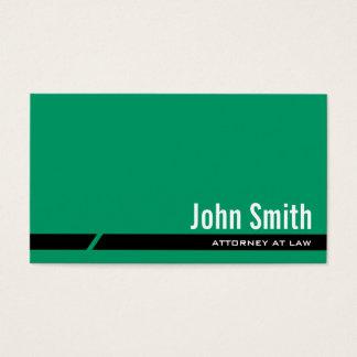 Einfache grüne schwarze visitenkarte