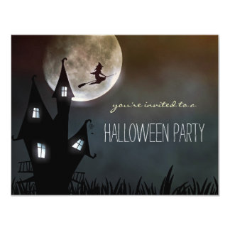 Einfache Halloween-Party-Kinder-oder 10,8 X 14 Cm Einladungskarte