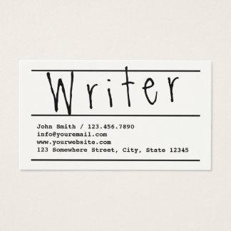 Einfache HandDrehbuchautor-Visitenkarte Visitenkarte